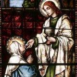 聖ヨハネから御聖体を拝領するマリア様