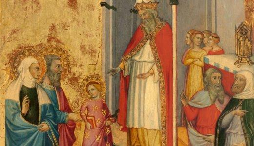 聖母マリア様の御絵 【6】 聖マリアの御奉献(11月21日)