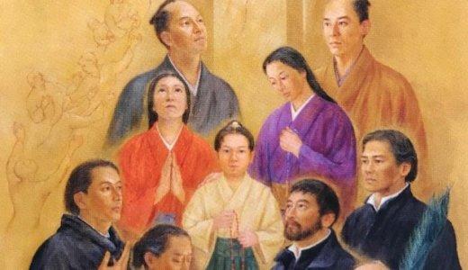【殉教録】 信徒ではない日本人たちが跪く